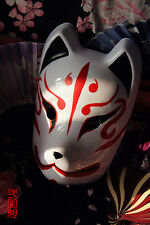 Japanese Fox Mask Demon Kitsune Cosplay Full Face Hand-Painted Masquerade Noh