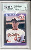 1989 Donruss Curt Schilling Rookie Card PGI 10 Red Sox
