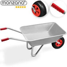 monzana® Schubkarre 80L Bauschubkarre bis 100kg Gartenkarre verzinkt Luftreifen