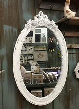Antik Holz Wandspiegel Spiegel 64 cm Garderobenspiegel Flurspiegel Barock weiß