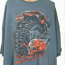 Superstition Harley-Davidson Apache Junction AZ Blue T shirt Size 3XL 4XL SKULL