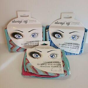 Always Off Makeup Remover Microfiber Cloths 3 Packs Of 3 New Unused