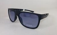 Guess GF0187 02W Men's 59mm Black Frame Blue Lens Designer Sunglasses New