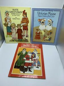 Paper Doll lot - Santa Claus, Victorian Mouse, Kate Greenway
