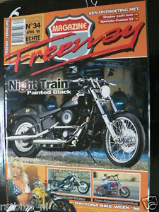 FREEWAY 34 HD NIGHT TRAIN,HONDA SHADOW 600,1100 C3 AERO, JESSE JAMES,DAYTONA.BMW