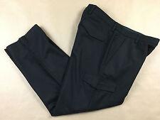 BANANA REPUBLIC Mens EMERSON Lined Heavy Wool Cargo Black Pants Tag 35x30