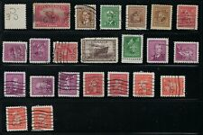 Perfin C15-C/GE (Canadian General Electric): 23 stamps includes diff. positions