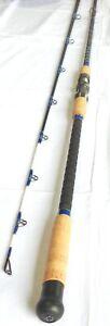 Pro Catfish Rod Long Casting 9' 2PC Metal Reel Seat Cork Handle Glow Tip