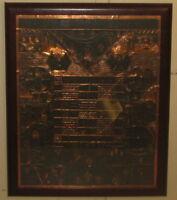 Vintage SANFORD WINSLOW 'I've Been Framed' Copper Scratchboard OUTSIDER FOLK ART