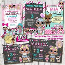 'YOU PRINT' Personalised LOL DOLL Surprise Birthday Party Invitation DIGITAL