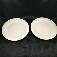 Pair of Gibson FOUR SEASONS Embossed Flowers Grapes Side Plates