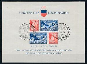 [G43869] liechtenstein 1936 Good sheet Very Fine used