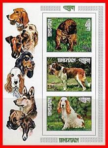 BHUTAN 1972 DOGS x3 S/s MNH CV$19.00 LHASA, SPANIEL, ANIMALS (K-DEC)