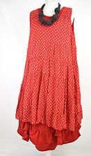 FAB DESIGNER 'SHE; POLKA DOT RED/WHITE LAYERING DRESS SIZE M/L