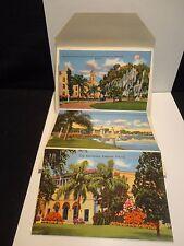 Postcard Folder Florida FL Lakeland Skyline Home Brotherhood Carpenters Joiners