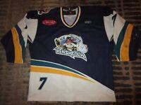 Pensacola Ice Pilots #7 ECHL Minor League Hockey Game Used Worn Jersey 54