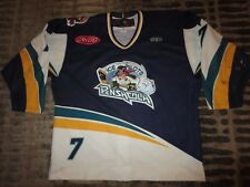 Pensacola Ice Pilots #7 ECHL Minor League Hockey Game Used Worn Jersey 54
