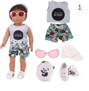 5pcs Set Doll Sunglass Bag Fit 18Inch American 43CM Reborn New Born Baby Doll