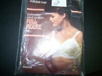 Vintage SEARS Full Figure Bra 36B White Natural Cup Polyester and Cotton NEW NIB