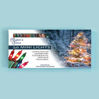 Christmas Tree Lights 50 Mini Lights Multi Color End to End New Indoor Outdoor