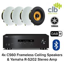 Inta Audio Yamaha R-S202 Home Hi-Fi Sound System - 4x Ceiling Speakers