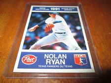 1991 POST/ 27 NOLAN RYAN TEXAS RANGERS