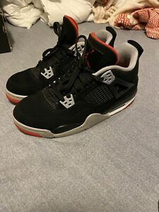 Nike Air Jordan 4 Bred 2019 'Black & Red' (GS) Size 7y Used Good Condition ✅