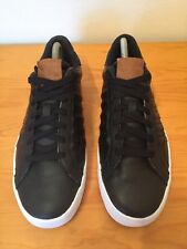 K Swiss Black White Court Style Leather Trainers Size 6 Vgc