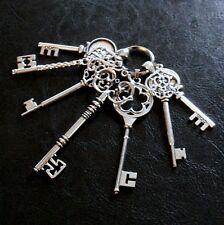 Deko-Schlüsselbund Schlüssel Antik Silber Landhaus Shabby chic Nostalgie Antik