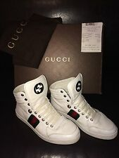 Gucci 100% Leather Hi Tops Shoes for Men