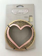 Yankee Candle Chrome Metal Heart Shaped Photo Frame Jar Clinger