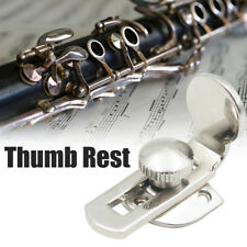 1x Brass Clarinet Thumb Rest Finger Protector Comforter with Screws Silver
