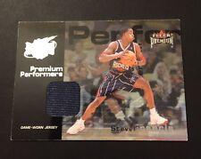 Steve Francis Rockets Maryland 2001 Fleer Premium Jersey Authentic Certified JG7