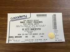 Manic Street Preachers Manchester O2 Ritz 20/05/19 Unused Ticket
