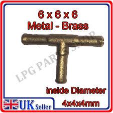 T PIECE 6x6x6 Metal push on pipe hose vacum gas lpg carburettor water liquid air