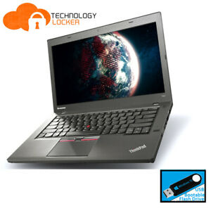 Lenovo ThinkPad T450 Intel i5-5300U @2.30 8GB RAM 180GB SSD Win 10 Laptop