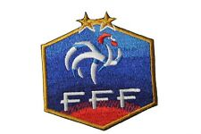 FRANCE FFF Logo FIFA World Cup 2 Stars EMBROIDERED IRON-ON PATCH CREST BADGE..