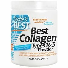 DOCTOR'S BEST 100% PURE COLLAGEN PROTEIN POWDER TYPES 1 & 3 HYDROLYZED 200g