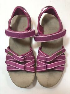 Teva Tirra Sport Sandals #6096 Pink Hook & Loop Sandals Size 4 Fits like Size 6