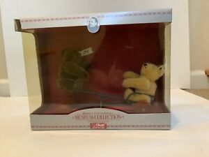 1988 Steiff Museum Collection BEARS WIGWAG SEESAW PULL TOY, 1924 Replica