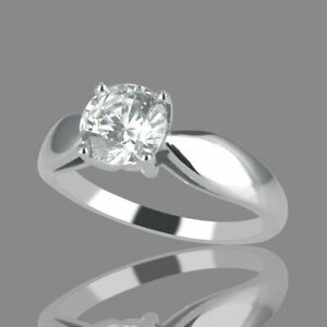14K Yellow Gold Solitaire 1.00 CT D/IF Engagement Ring Round