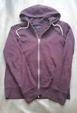New New Look Mens Aubergine Fleece Lined Cotton Hoodie-Size Small
