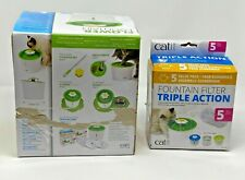 Catit Flower Fountain w/ 5pk triple action fountin filters