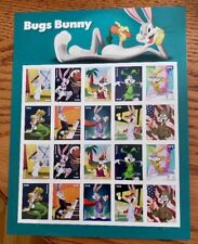 New USPS Bugs Bunny Pane of 20 Forever Stamps 2020
