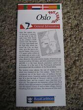 Royal Caribbean International, Oslo Norway, Port Explorer ~ Map / Brochure, 1998