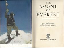 THE ASCENT OF EVEREST by John Hunt (1954 HC) Mountaineering