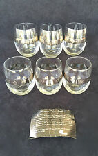 MCM Color Craft Platinum Band Roly Poly Dorothy Thorpe Style set  6 Mid Century