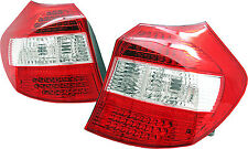 Bmw 1 series E87 red clear LED L.E.D. tail rear lights lamps pre facelift 03-07