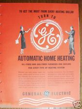 1948 GENERAL ELECTRIC GE Home HEATING HVAC Catalog ASBESTOS Boiler Insul History