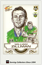 *Popular - 2008 Select NRL Champions Stars Sketch Card SK6 William Zillman